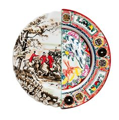 <p>Each piece in Seletti's Hybrid collection juxtaposes motifs fromEastern and Western traditional art, resulting in a unique blend of colors and patterns.</p><p>Each piece is refined by hand from bone china porcelain employing traditional Chinese techniques.</p>