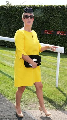 Bright and beautiful! Zara Phillips was glowing as she arrived at Ladies Day at Glorious Goodwood today