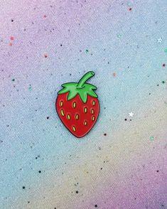Strawberry Enamel Pin Fruit Enamel Pins Lapel Pin Brooch   Etsy Vegan Gifts, Vegan Animals, Hard Enamel Pin, Lapel Pins, Brooch Pin, Badge, Birthday Gifts, Strawberry, Fruit
