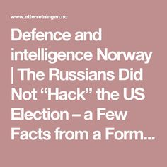 """Defence and intelligence Norway 