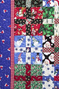 detail from christmas medley ii quilt by susan dague