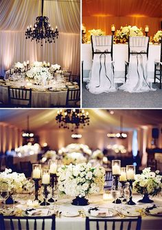 Why Choose a Black and White Wedding Theme? | Wedding Table Decoration. http://simpleweddingstuff.blogspot.com/2014/10/why-choose-black-and-white-wedding-theme.html