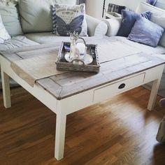 #mulpix Nytt sofabord . Må finne nye prosjekt på kvelden som inneber mindre støv... #sofabord #stuebord #stue #interior125 #interior123 #interior #interiør #diy #table #fransklandstil #inspo #stove #shabbyyhomes #shabbychic #homemade #heimelaga #homeinterior #jotun #jotunlady #drivved #byggeriet #gjerdetsjølv #kvano #nowwhat