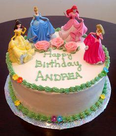 Disney Princess Cakes --- Bake A Whtish Princess Tea Party Food, Easy Princess Cake, Disney Princess Birthday Cakes, Princess Cake Toppers, Zoe Cake, Walmart Cakes, Camping Cakes, Prince Cake, Tea Party Birthday