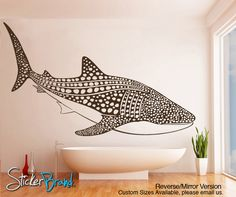 Whale shark wall decal from Etsy... kinda want to do an ocean themed bedroom