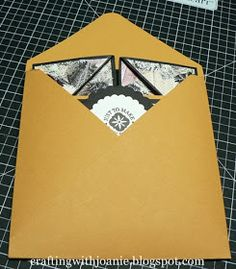 There are times I have becomeso busy withapaper craftingproject that it grew and grew and before I knew it I didn't have an envelope the...