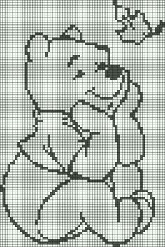 Alpha friendship bracelet pattern 1105 braceletbook com Crochet Pixel, Graph Crochet, Filet Crochet Charts, Knitting Charts, Crochet Blanket Patterns, Baby Blanket Crochet, Disney Cross Stitch Patterns, Cross Stitch Designs, Cross Stitching
