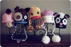 Adorable little knitted hats!