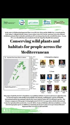 National conference Conserving wild plants and habitats for people across the Mediterranean AUB, Beirut,Lebanon