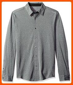 Calvin Klein Men s Long Sleeve Snap Front Commuter Shirt a21fd22db8f7
