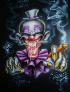 Create and share Evil Clown graphics and comments with friends. Gruseliger Clown, Clown Horror, Clown Faces, Creepy Clown, Arte Horror, Horror Art, Clown Tattoo, Skull Tattoos, Insane Clown Posse