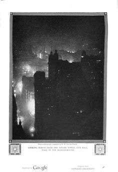 New York at night in 1910, The Century illustrated monthly magazine, Volume 81, 1910-1911.