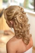 half up half down wedding hair with curls