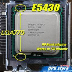 INTEL XEON E5430 2.66GHz/12M/1333Mhz/CPU equal to LGA775 Core 2 Quad Q9500 CPU,works on LGA775 mainboard no need adapter