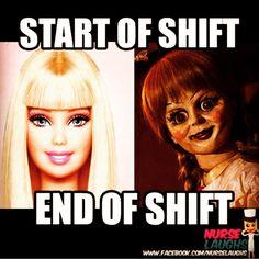 Start of shift...end of shift... Nursing probs
