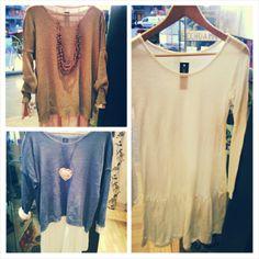 Jerséis y vestidos básicos 100% de algodón para combinar entre ellos y con todo!