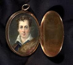 Lord Byron's water colour in a locket, belonging to Lady Caroline Lamb