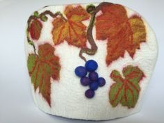 Vine tea cosy hand felted by Chic Fusion Textile Products, Cosy, Vines, Vibrant, Felt, Textiles, Future, Natural, Design