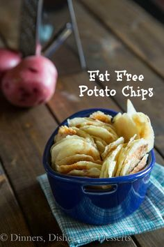 """Fat Free Potato Chips (I don't normally """"cook"""" in the microwave only reheat things but, this seems like a pretty good idea)"""