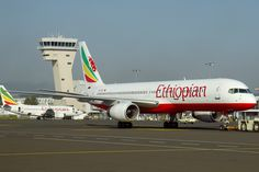 Boeing 757-256, Ethiopian Airlines (Atlasjet Airlines) Jet Airlines, Boeing Aircraft, Addis Ababa, Civil Aviation, Ethiopia, African, Towers, Airplanes, Wings