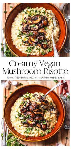 Tasty Vegetarian Recipes, Vegan Dinner Recipes, Whole Food Recipes, Healthy Recipes, Healthy Mushroom Recipes, Curry Recipes, Easy Vegan Dishes, Easy Vegitarian Dinner Recipes, Natural Food Recipes