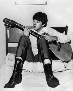 Pinterest | hardtosayno. .  McCartney in 1964. At the time, his musical primacy was taken for granted.
