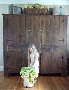 LOVE this huge cupboard (Could probably DIY using pallet wood!)