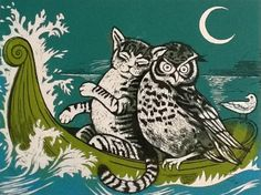 The Owl & the Pussycat went to sea in a beautiful, pea green boat... SHOP - iO Gallery, Brighton