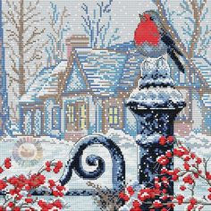 ru / Photo # 11 - Anyone who loves Aries - Cross Stitch House, Xmas Cross Stitch, Butterfly Cross Stitch, Cross Stitch Books, Cross Stitch Animals, Cross Stitching, Cross Stitch Embroidery, Cross Stitch Patterns, Christmas Bird