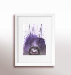 Arte feita em aquarela Reprodução/print em canvas (lona), sem moldura Formato A2 42 X 59,4cm . . . . . . . . . . . . . . . . . . . . . . . . . - Produzido sob encomenda - Envio via correios