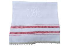 A Monogrammed Guest Towel Landing Strip, Guest Towels, Monograms, Showers, Madness, Stitches, Stripes, Bridal, Baby