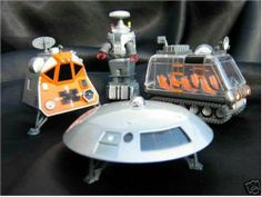 Lost In Space Die Cast Metal Vehicles Robot Space Pod Chariot and the Jupiter 2 by Playing Mantis. $79.99. Very Rare and are Heavy Die Cast Metal. Never Played with