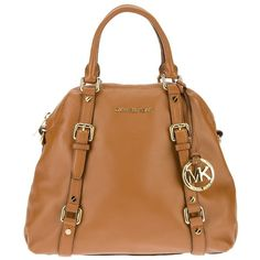 Michael Michael Kors Tote Bag ($307) ❤ liked on Polyvore featuring bags, handbags, tote bags, purses, bolsas, accessories, leather man bags, beige leather tote, leather tote and hand bags
