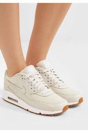 NikeAir Max 90 Premium snake-effect leather and mesh sneakers