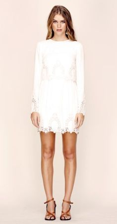 FINAL SALE - The Jetset Diaries - dreaming the same dress in embroidered white - shophearts - 1