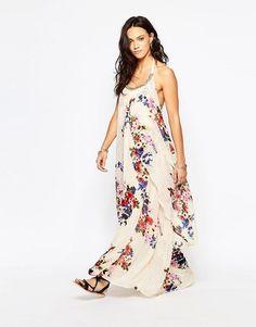Raga | Raga Feeling Floral Halter Maxi Dress