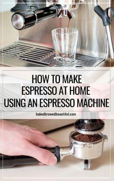 Espresso How To Make, Espresso At Home, Home Espresso Machine, Coffee And Espresso Maker, Espresso Shot, Espresso Drinks, Coffee Cafe, Coffee Drink Recipes, Coffee Drinks