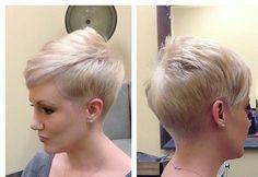 Des coiffures courtes attrayantes pour cheveux blonds et bruns