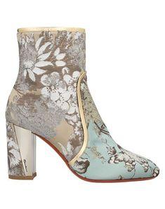 Shoe Boots, Ankle Boots, Bridal Heels, Textiles, Himmelblau, Gold Heels, Crazy Shoes, Bag Accessories, Floral Design