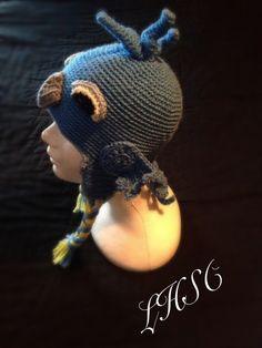 Handmade crochet bluebird hat