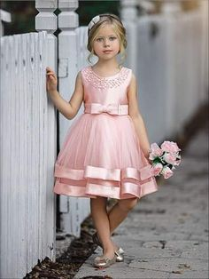 Girls Elegant Pearl Embellished Two Tier Special Occasion Holiday Dress Little Girl Dresses Dress Elegant Embellished Girls Holiday Occasion Pearl special Tier Girls Special Occasion Dresses, Gowns For Girls, Frocks For Girls, Kids Frocks, Dresses Kids Girl, Kids Outfits, Girls Dresses Size 6, Cute Little Girl Dresses, Baby Dresses