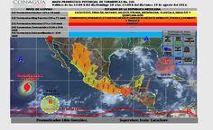 Prevalece pronóstico de tormentas muy fuertes y temperaturas de hasta 40°C en…