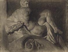 Daniel Garber (1880–1958, American) Pastel Crayons, Drawing Sketches, Drawings, Male Figure, Michelangelo, Traditional Art, Van Gogh, American Art, The Incredibles