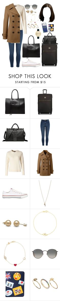 """""""BAR (flight to)"""" by ittgirl ❤ liked on Polyvore featuring Rebecca Minkoff, Tumi, River Island, Tommy Hilfiger, Lands' End, Converse, Minor Obsessions, Jennifer Meyer Jewelry, Alison Lou and Ray-Ban"""