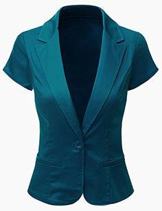 Doublju Women Contemporary Spandex Peacked Collar Regular Fit Blazer Suit Jacket TEAL,2X Doublju http://www.amazon.com/dp/B00NH8SG0S/ref=cm_sw_r_pi_dp_kMJbwb039D549