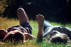 Laying in the grass With Your Best Friend Laughing at Everything