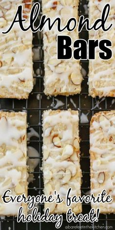 Almond Bars are everyone's favorite holiday treat!