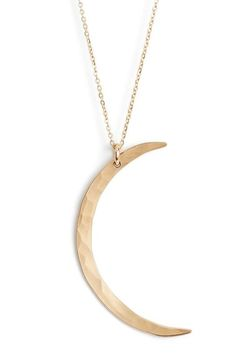 Nashelle Moon Pendant Necklace available at #Nordstrom