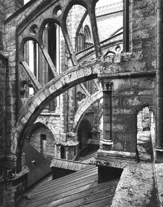 Flying Buttresses at Chartres Cathedral in France. I have already been here but it is LOVELY and I want to go back. I love France