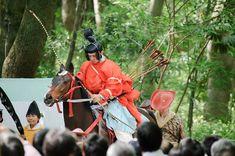 First Rider Heads To the Start -- Shimogamo Shrine -- Kyoto, Japan -- Copyright 2010 Jeffrey Friedl, http://regex.info/blog/